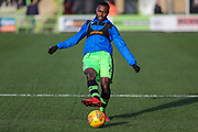 Forest Green Rovers Dale Bennett(2) warming up during the EFL Sky Bet League 2 match between Forest Green Rovers and Cheltenham Town at the New Lawn, Forest Green, United Kingdom on 25 November 2017. Photo by Shane Healey.