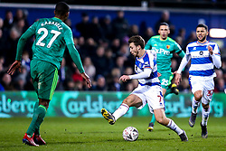 Luke Freeman of Queens Park Rangers takes on Christian Kabasele of Watford - Mandatory by-line: Robbie Stephenson/JMP - 15/02/2019 - FOOTBALL - Loftus Road - London, England - Queens Park Rangers v Watford - Emirates FA Cup fifth round proper