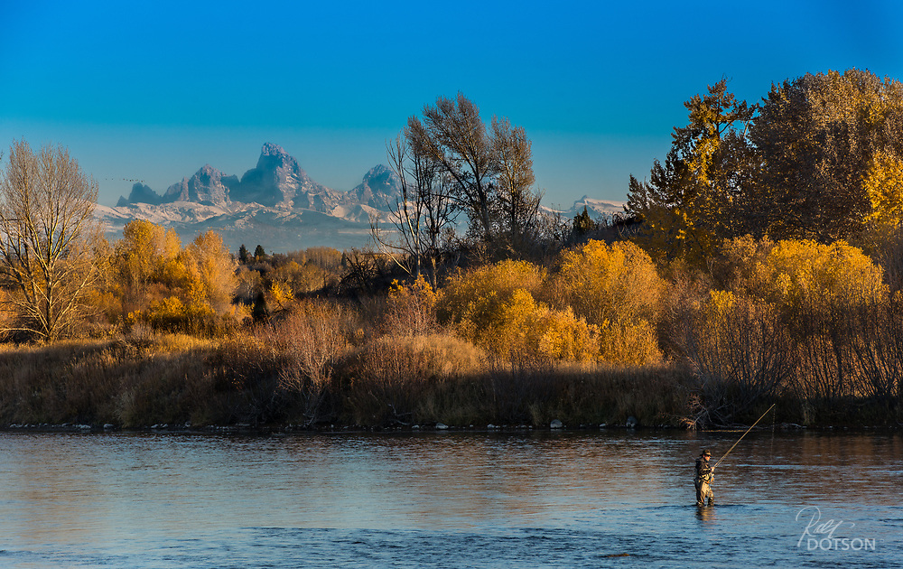 Under the Tetons throwing bug as winter approaches is sweet.  Nobody and I mean nobody is around.