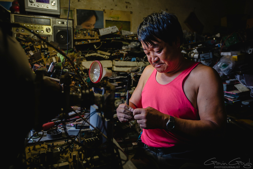 Even though Wang, who had polio, cannot easily visit his customers, they bring electrical items to his shop for repair. The shop was donated by the local Disabled Persons' Federation. Wang's son is studying at university on a  scholarship provided by the DPF.