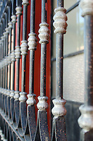 Decorative ironwork security bars, Oaxaca, Mexico.