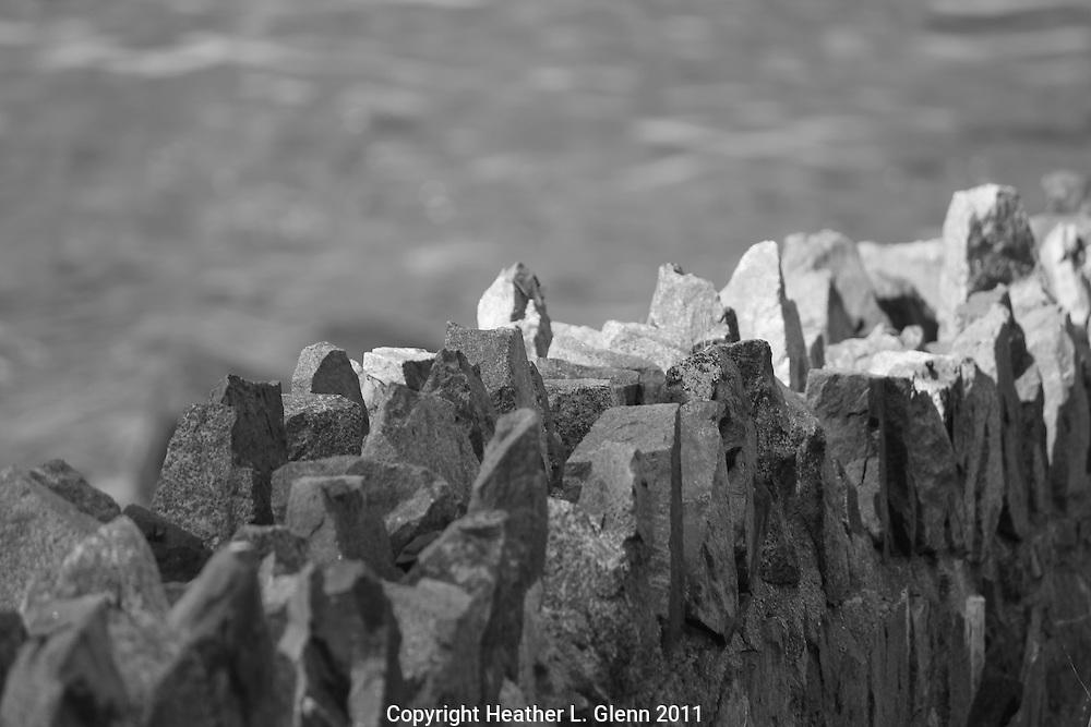 Stone Wall in Marblehead, Massachusetts