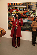 Lerna Chatterjee, Other,Riyas Komu and Peter Drake. - VIP  launch of Aicon. London's largest contemporary Indian art gallery. Heddon st. and afterwards ant Momo.15 Marc h 2007.  -DO NOT ARCHIVE-© Copyright Photograph by Dafydd Jones. 248 Clapham Rd. London SW9 0PZ. Tel 0207 820 0771. www.dafjones.com.