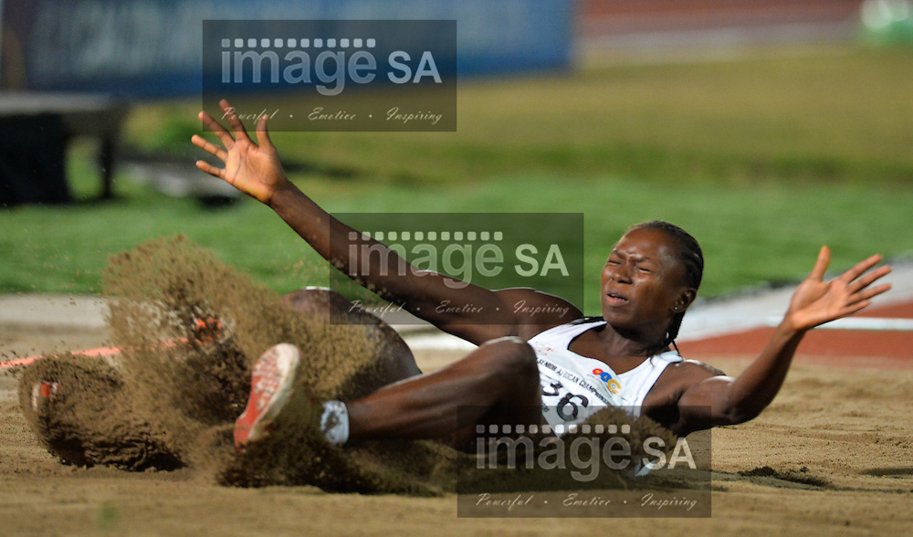 DURBAN, SOUTH AFRICA - JUNE 24: Ese Brume of Nigeria in the final of the women's long jump during the afternoon session of day 3 of the CAA 20th African Senior Championships at Kings Park Athletic stadium on June 24, 2016 in Durban, South Africa. (Photo by Roger Sedres/Gallo Images)