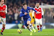 Chelsea midfielder Mason Mount (19) during the Premier League match between Chelsea and Arsenal at Stamford Bridge, London, England on 21 January 2020.