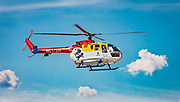 Airbus MBB Bo-105CBS-5 medical evacuation helicopter used by Scottish Rite Children's Hospital of Atlanta.