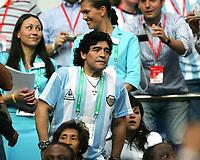 Diego Maradona Argentinien<br /> Fussball WM 2006 Argentinien - Elfenbeinkueste <br /> Argentina - Elfenbenskysten<br /> Norway only