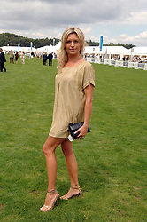 Actress TINA HOBLEY at the Cartier International polo at Guards Polo Club, Windsor Great Park on 29th July 2007.<br />