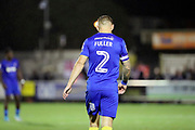 AFC Wimbledon defender Barry Fuller (2) walking off pitch during the EFL Sky Bet League 1 match between AFC Wimbledon and Gillingham at the Cherry Red Records Stadium, Kingston, England on 12 September 2017. Photo by Matthew Redman.