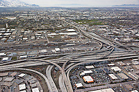 Known as the Spaghetti Bowl to locals, this is the I-80 and I-15 Interchange.
