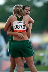 HIPOLITO Veronica, MEIJER Juanelie, BRA, RSA, 200m, T38, 2013 IPC Athletics World Championships, Lyon, France