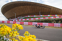 LONDON UK 29TH JULY 2016:  Kirk Hughes (GBR). Prudential RideLondon Handcycle Grand Prix at the London Velo Park. Prudential RideLondon in London 29th July 2016<br /> <br /> Photo: Jed Leicester/Silverhub for Prudential RideLondon<br /> <br /> Prudential RideLondon is the world&rsquo;s greatest festival of cycling, involving 95,000+ cyclists &ndash; from Olympic champions to a free family fun ride - riding in events over closed roads in London and Surrey over the weekend of 29th to 31st July 2016. <br /> <br /> See www.PrudentialRideLondon.co.uk for more.<br /> <br /> For further information: media@londonmarathonevents.co.uk