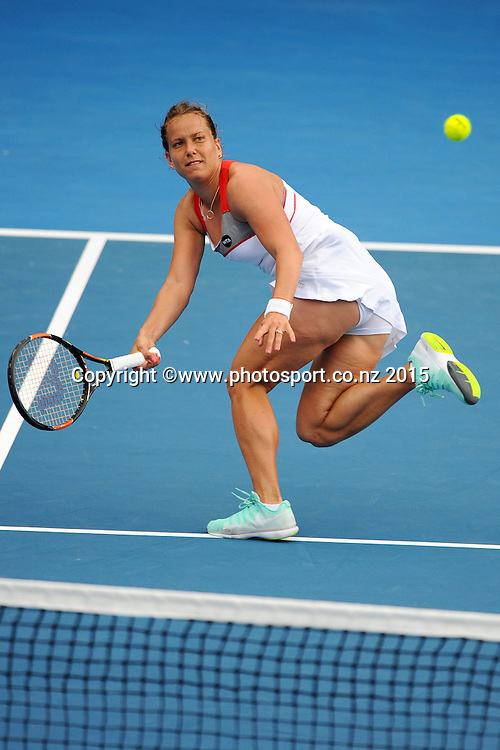 Czech player Barbora Zahlavova Strycova during her Semi Finals match of the ASB Classic Women's International. ASB Tennis Centre, Auckland, New Zealand. Friday 9 January 2015. Copyright photo: Chris Symes/www.photosport.co.nz