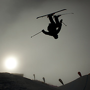 David Wise, USA, in action during the Freeski Halfpipe event at the Winter Games at Cardrona, Wanaka, New Zealand. 17th August 2011. Photo Tim Clayton...