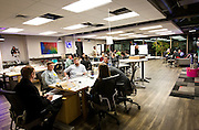 "Attendees brainstorm solutions to issues affecting the Madison area during the 100state ""Problem Solving Soirée"" on January 11, 2017. The event kicked off the opening of the entrepreneurial coworking space on the 6th floor of 316 West Washington Avenue in Madison."