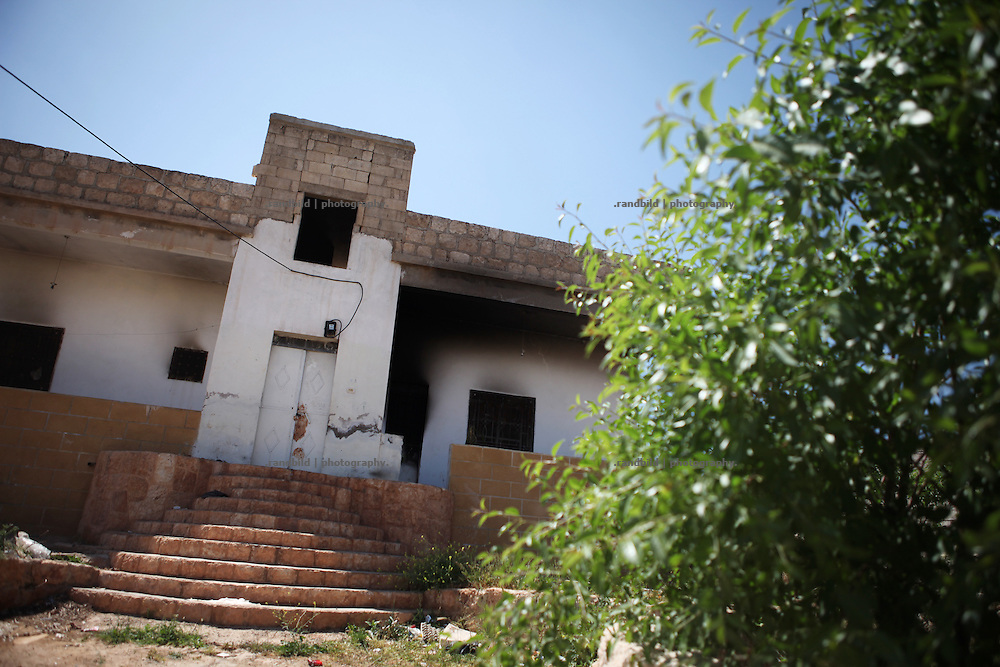 Only Grandmother Hana still lives in Deir Sunbul after all family mebers left the village when Assad loyalists burnt down her the families house (picture). Deir Sunbul (contested Jabal Al-Zawiha area) was beeing attacked by syrian army in April, leaving several people dead. Many houses were set on fire by Assad loyalists and inhabitants fled the region fearing new attacks.