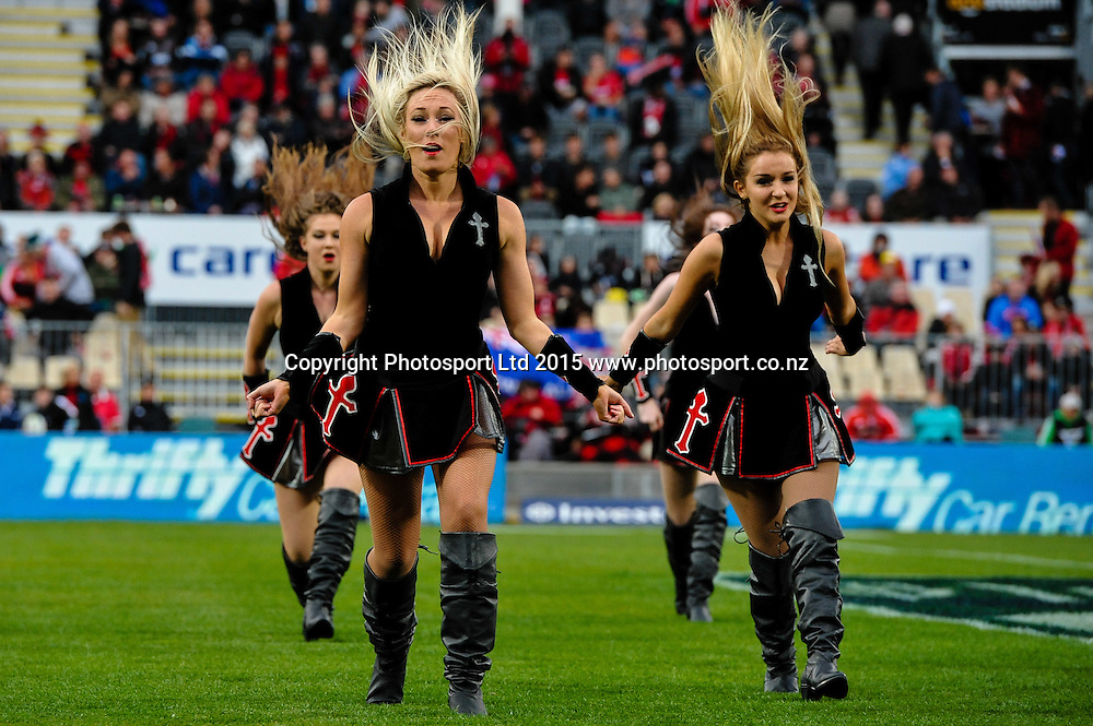 The Maidens in the Super Rugby match, Crusaders v Rebels at AMI Stadium, Christchurch, New Zealand 13 February 2015. Photo:John Davidson/www.photosport.co.nz