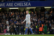 Wayne Rooney of Everton looks on. <br /> EFL Carabao Cup 4th round match, Chelsea v Everton at Stamford Bridge in London on Wednesday 25th October 2017.<br /> pic by Kieran Clarke, Andrew Orchard sports photography.