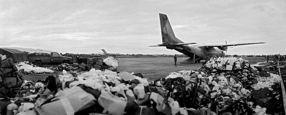 Supplies allover the world came in by military transport planes to the small airport of Banda Aceh. Some of them just stuck at the airport<br /> <br /> Murat Tueremis<br /> Germany<br /> +49-171-5437080.<br /> email: murattueremis@t-online.de