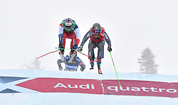 14.01.2018, Idre Fjall, Idre, SWE, FIS Weltcup Ski Cross, Idre Fjall, im Bild Jean Frederic Chapuis före Alex Fiva // during the FIS Ski Cross World Cup at the Idre Fjall in Idre, Sweden on 2018/01/14. EXPA Pictures © 2018, PhotoCredit: EXPA/ Nisse Schmidt<br /> <br /> *****ATTENTION - OUT of SWE*****
