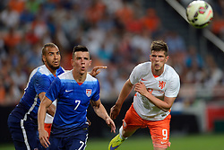 05-06-2015 NED: Oefeninterland Nederland - USA, Amsterdam<br /> Oranje verliest oefeninterland tegen Verenigde Staten met 4-3 / Klaas-Jan Huntelaar #9, Alfredo Morales #7, John Brooks #6
