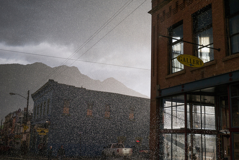 Summer showers bring high country magic to the streets of historic Silverton, Colorado.