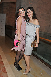 Left to right, GRACE WOODWARD and LARA BOHINC at the Women for Women International UK Gala held at the Guildhall, City of London on 3rd May 2012.