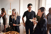 MAUREEN PALEY, Pablo Bronstein, Sketches for Regency Living. Discussion and lunch. ICA. The Mall. London. 7 June 2011. <br /> <br />  , -DO NOT ARCHIVE-© Copyright Photograph by Dafydd Jones. 248 Clapham Rd. London SW9 0PZ. Tel 0207 820 0771. www.dafjones.com.