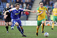 Leicester - Saturday, February 16th, 2008: Gareth McAuley (L) of Leicester City and Iain Hume (R) of Norwich City during the Coca Cola Champrionship match at the Walkers Stadium, Leicester. (Pic by Mark Chapman/Focus Images)