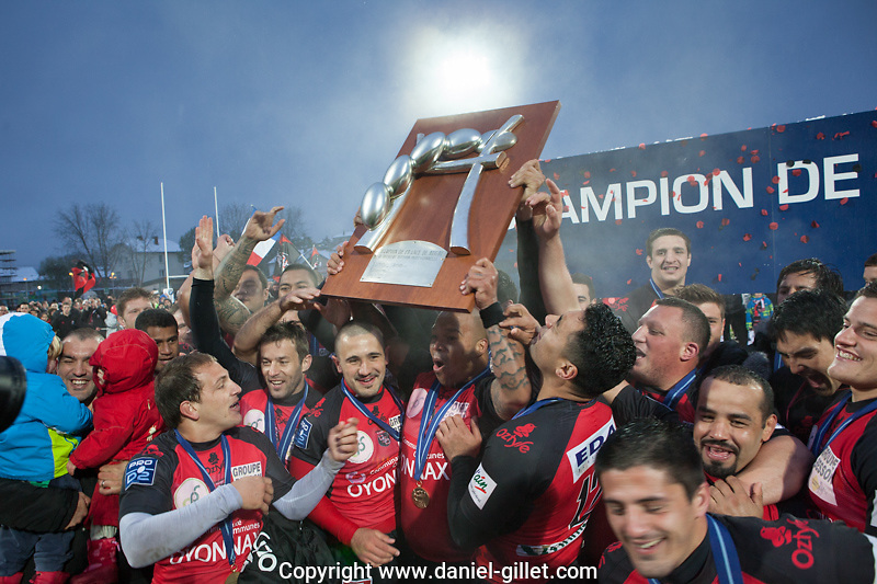 Match de Rugby Oyonnax (USO) contre Beziers, a Oyonnax, 27 avril 2013