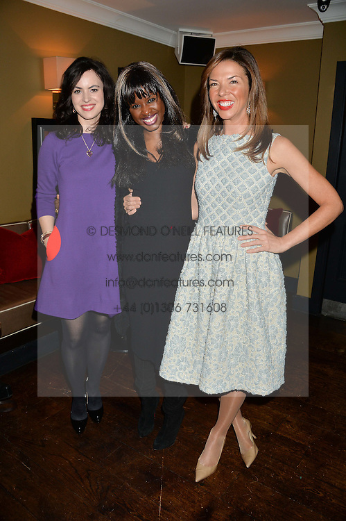 Left to right, SALLY WOOD, JUNE SARPONG and HEATHER KERZNER at a party to launch Madderson London Women's Wear held at Beaufort House, 354 Kings Road, London on 23rd January 2014.