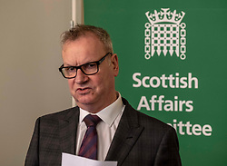 Pictured: Pete Wishart<br /> <br /> Today at the Crew 2000 offices in Edinburgh, the chair of the Scottish Affairs Committee Pete Wishart MP launched an inquiry into drug misuse in Scotland.  He was joined by members of his committee, Tommy Shephard (SNP), Danielle Rowley MP (Labour) and Christine Jardine (Lib Dem)<br /> )<br /> <br /> <br /> Ger Harley | EEm 4 March 2019