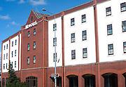 Modern architecture frontage of Novotel hotel in Ipswich, Suffolk, England, UK