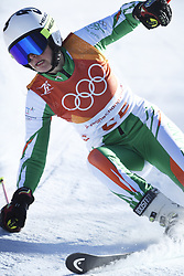 February 15, 2018 - Pyeongchang, South Korea - TESS ARBEZ of Ireland on her first run at the Womens Giant Slalom event Thursday, February 15, 2018 at the Yongpyang Alpine Centerl at the Pyeongchang Winter Olympic Games.  Photo by Mark Reis, ZUMA Press/The Gazette (Credit Image: © Mark Reis via ZUMA Wire)