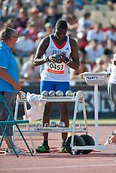 TAMBADOU Moussa, FRA, Shot Put, F38, 2013 IPC Athletics World Championships, Lyon, France