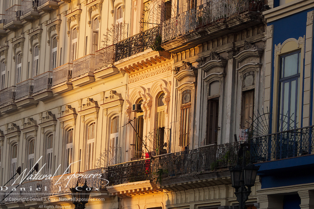 Morning light on the buildings of Old Havana, Cuba