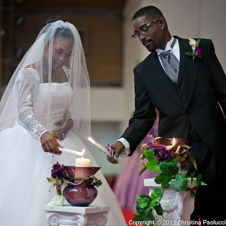 The wedding of Tankia Whitfield and Damon Nabrit Saturday October 9, 2010. (Christina Paolucci, photographer)