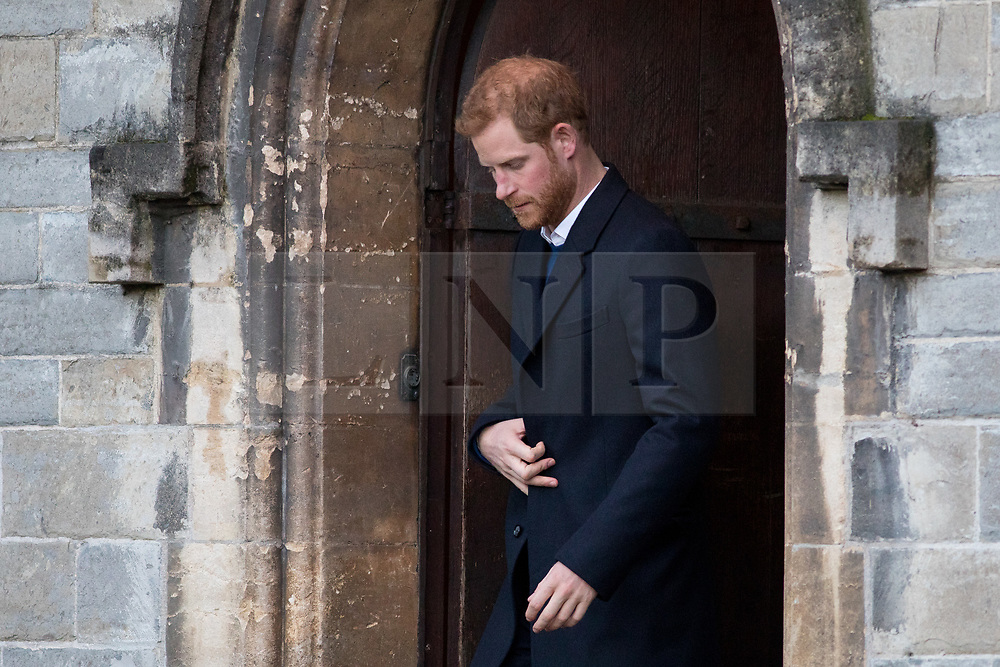 © Licensed to London News Pictures. 18/01/2018. Cardiff, UK. Prince Harry and Meghan Markle (not pictured) leave Cardiff Castle, after visiting the Wales Culture Fair. Photo credit : Tom Nicholson/LNP