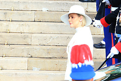 Princess Charlene The royal family of Monaco going to the St. Nicholas Cathedral for the beginning of the National Day festivities on November 19th 2019.