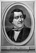 Portrait of Gioacchino Rossini (1792–1868) / Ritratto di Gioacchino Rossini (1792–1868) - Reproduced by Marcello Mencarini