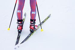 Skis during Women 12.5 km Mass Start at day 4 of IBU Biathlon World Cup 2015/16 Pokljuka, on December 20, 2015 in Rudno polje, Pokljuka, Slovenia. Photo by Urban Urbanc / Sportida