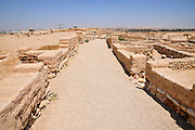 Israel, Negev, Tel Be'er Sheva believed to be the remains of the biblical town of Be'er Sheva. The main street