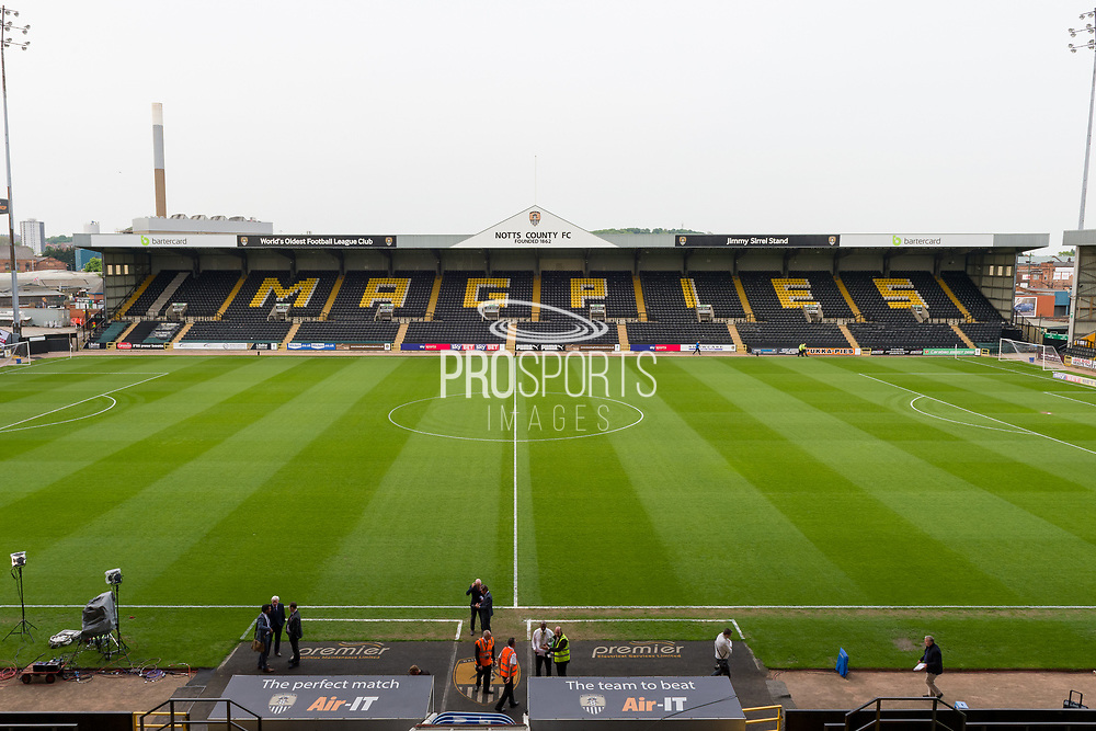 General view of Meadow Lane, home to Notts County. The world's oldest football league club during the EFL Sky Bet League 2 match between Notts County and Coventry City at Meadow Lane, Nottingham, England on 18 May 2018. Picture by Jon Hobley.