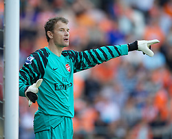 BLACKPOOL, ENGLAND - Sunday, April 10, 2011: Arsenal's late replacement goalkeeper Jens Lehman during the Premiership match against Blackpool at Bloomfield Road. (Photo by David Rawcliffe/Propaganda)