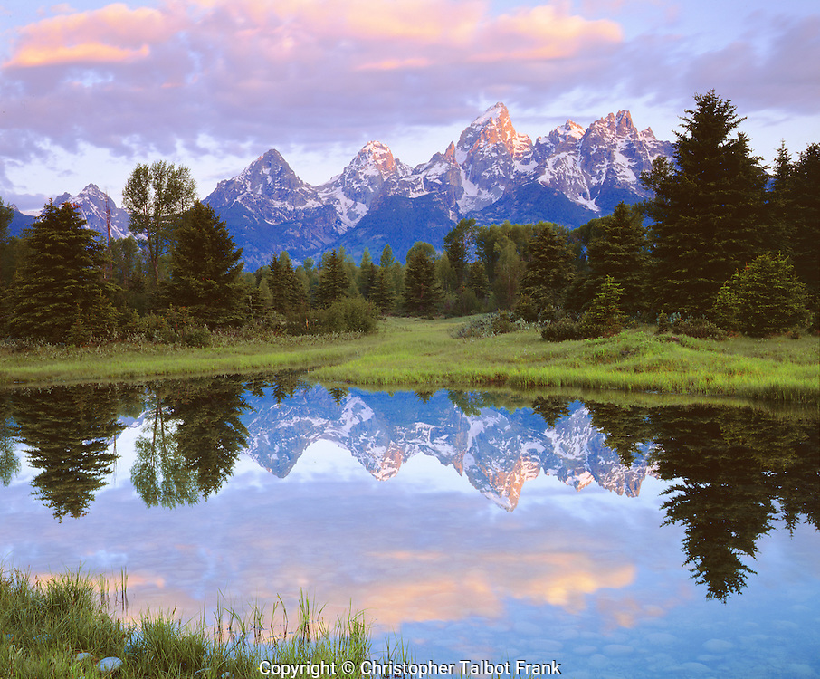 I took this postcard perfect photo of Grand Teton National Park in Wyoming with my large format 4x5 view camera.  The sheet film allows for extremely high resolution images with rich colors.