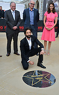 Adrien Brody was present at the Film Festival of Ostend to inaugurate a star with his name on the promenade front of the sea with Moran Atias. Ostend, Belgium, 19 September 2014l