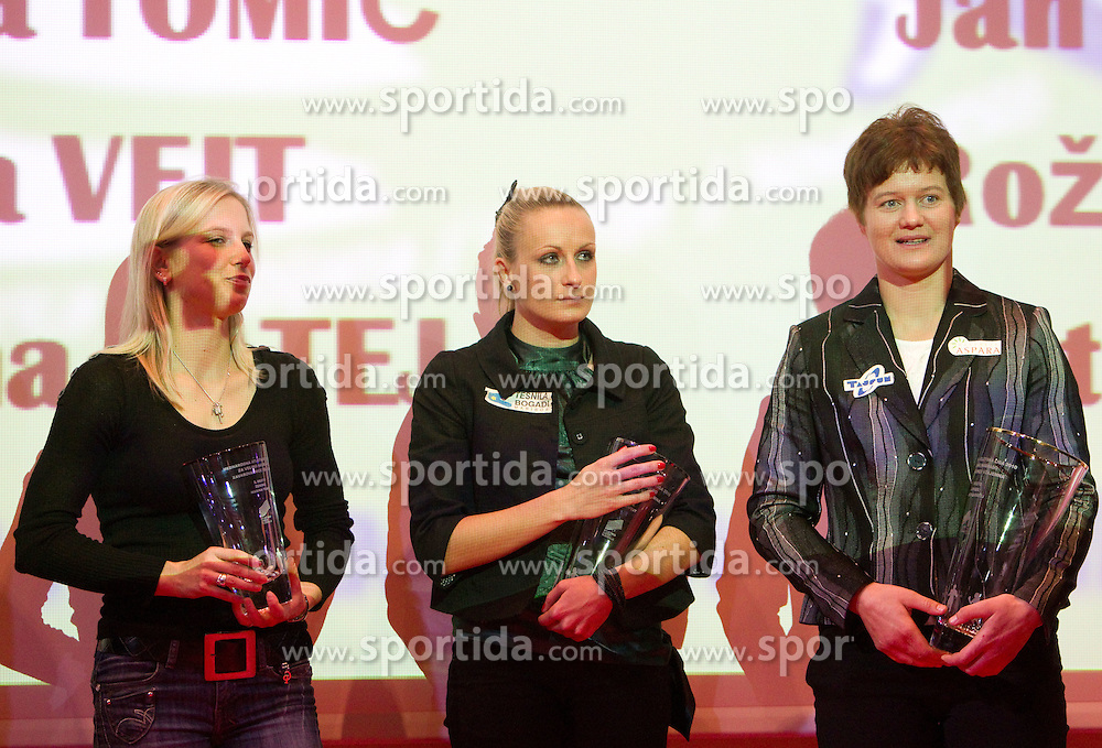 Marina Tomic, Sabina Veit and Martina Ratej during the Slovenia's Athlete of the year award ceremony by Slovenian Athletics Federation AZS, on November 12, 2008 in Hotel Mons, Ljubljana, Slovenia.(Photo By Vid Ponikvar / Sportida.com) , on November 12, 2010.