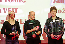 Marina Tomic, Sabina Veit and Martina Ratej during the Slovenia's Athlete of the year award ceremony by Slovenian Athletics Federation AZS, on November 12, 2008 in Hotel Mons, Ljubljana, Slovenia.(Photo By Vid Ponikvar / Sportida.com) , on November 12, 2010.