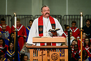 The Rev. Dr. Matthew C. Harrison, president of the LCMS, preaches during the 500th Anniversary of the Reformation festival worship service on Sunday, Oct. 29, 2017, in the Gangelhoff Center at Concordia University, St. Paul, in St. Paul, Minn. The service was held in conjunction with Concordia University, St. Paul, and the Minnesota North and South Districts of the Lutheran Church-Missouri Synod. LCMS Communications/Erik M. Lunsford