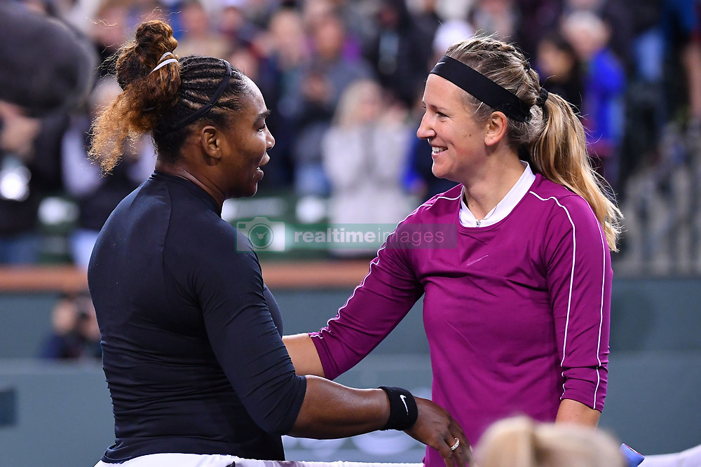 March 9, 2019 - Indian Wells, USA - Serena Williams (USA) and Victoria Azarenka (Credit Image: © Panoramic via ZUMA Press)